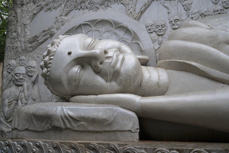 Голова спать Будды trang Вьетнам nha стоковая фотография