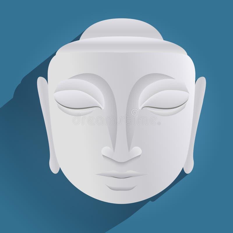 Голова статуи Будды иллюстрация вектора