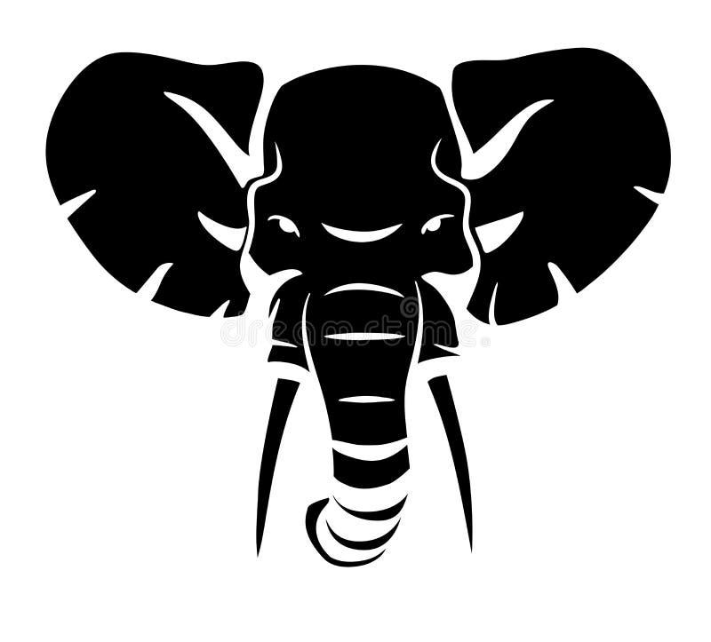 Голова слона иллюстрация вектора