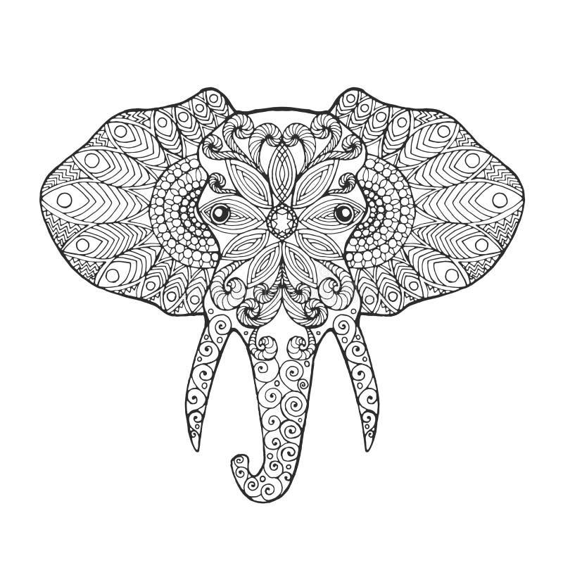 Голова слона иллюстрация штока