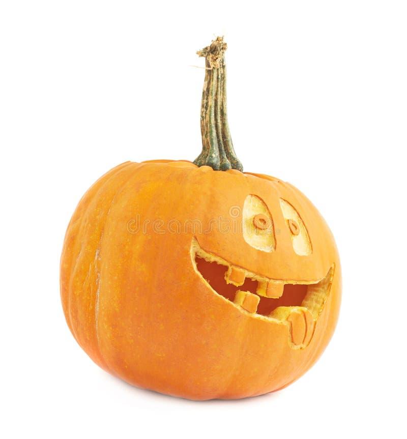 голова тыквы хеллоуина Джек-o'-фонариков стоковая фотография rf