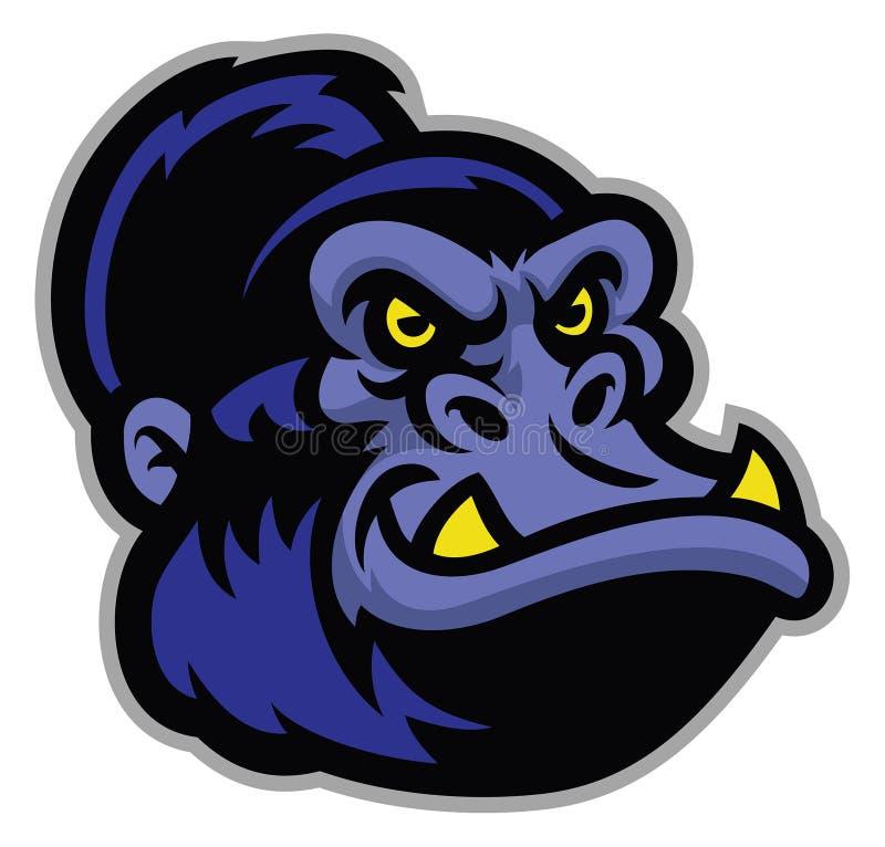 Голова шаржа гориллы бесплатная иллюстрация