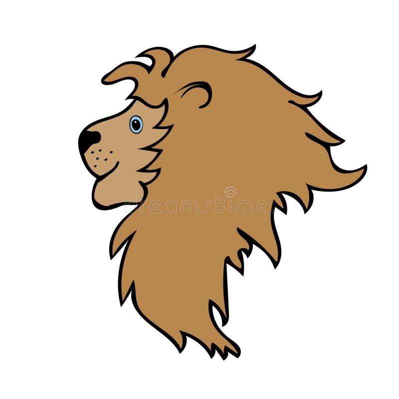 Голова шаржа льва милая смешная бесплатная иллюстрация