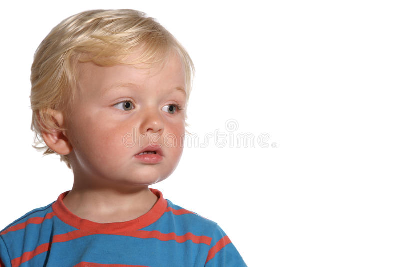 Годовалый мальчик белокурые 2 стоковая фотография