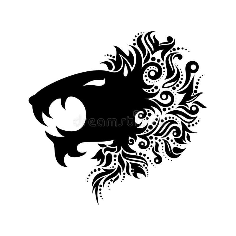 Голова льва логотипа вектора иллюстрация штока