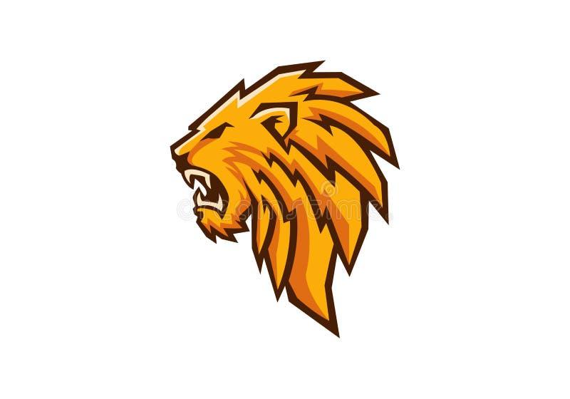 Голова льва иллюстрация вектора