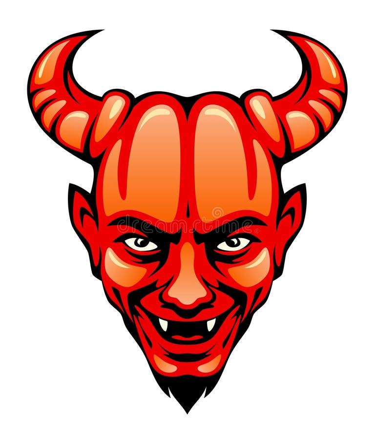 Голова дьявола иллюстрация вектора