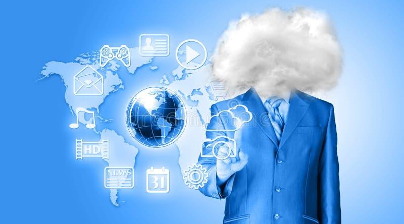 Головка в облаках стоковое изображение rf
