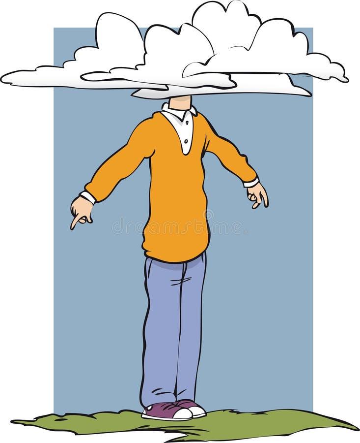 Головка в облаках бесплатная иллюстрация