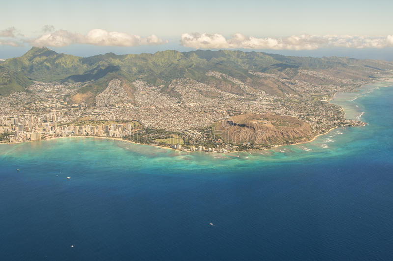 головка Гавайских островов диаманта стоковое изображение
