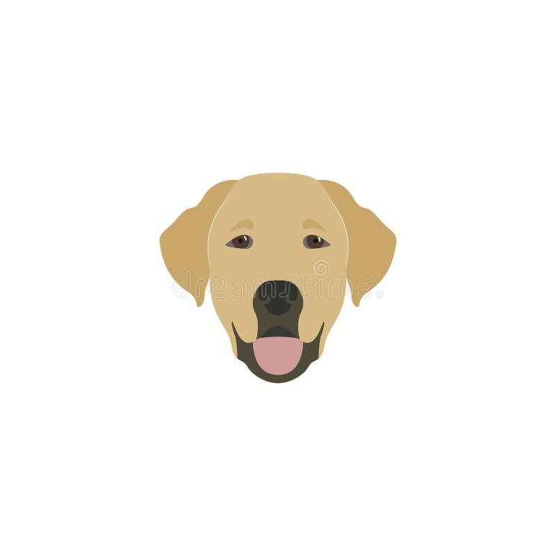 Головная собака labrador иллюстрация штока