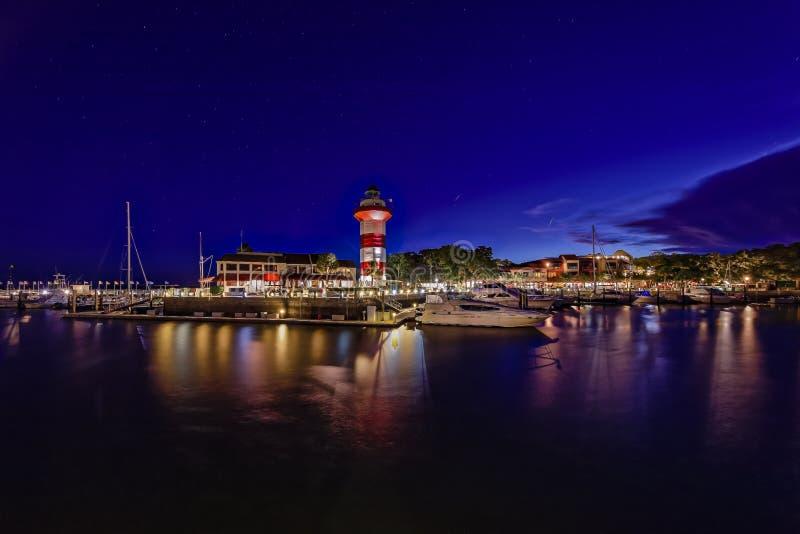 головной маяк острова hilton стоковое изображение