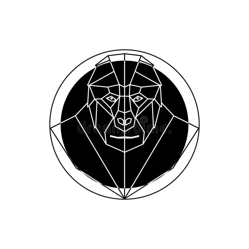 Головной логотип гориллы иллюстрация штока