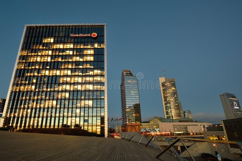 Головной офис Swedbank, Вильнюса стоковое изображение