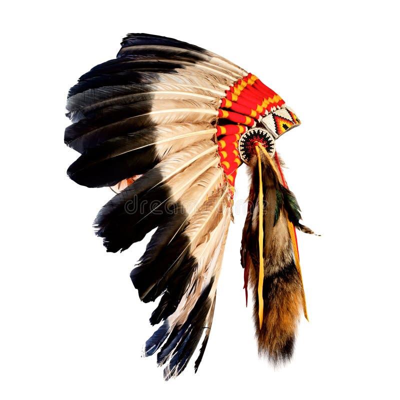 Головной убор индийского вождя коренного американца стоковые фото