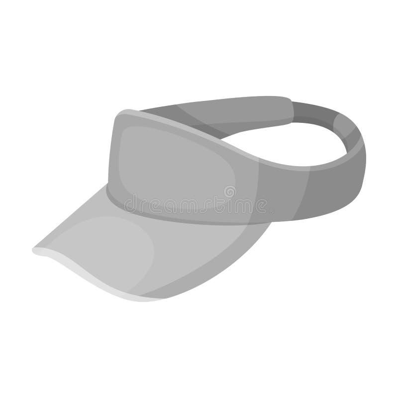 Головной убор ` s игрока в гольф Значок гольф-клуба одиночный в monochrome сети иллюстрации запаса символа вектора стиля бесплатная иллюстрация