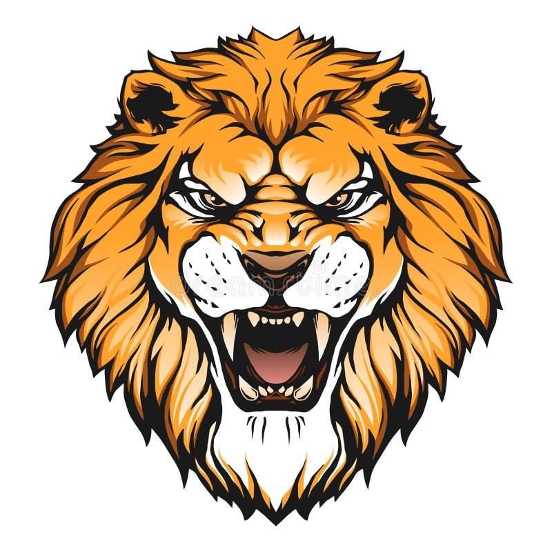 головной львев иллюстрации иллюстрация штока