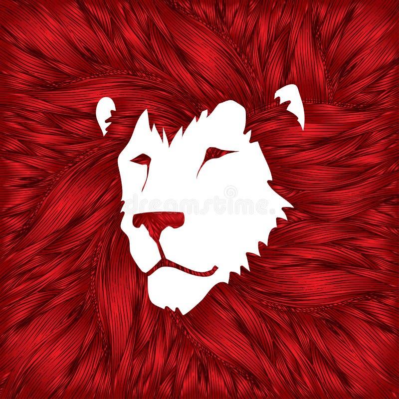 головной львев иллюстрация штока