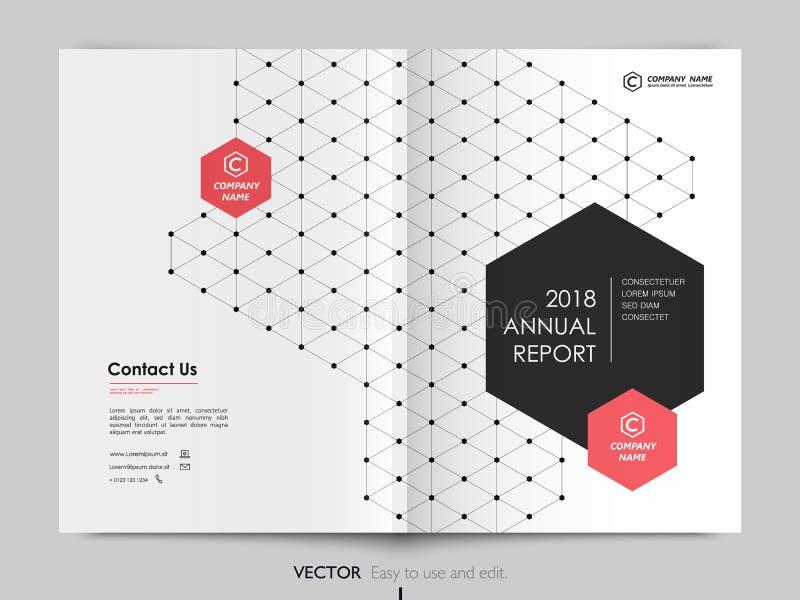 Годовой отчет дизайна крышки, рогулька, брошюра иллюстрация вектора
