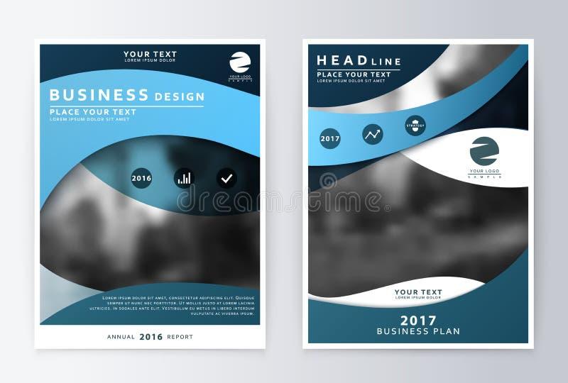 Годовой отчет и брошюра Отчеты о шаблона брошюры иллюстрация штока