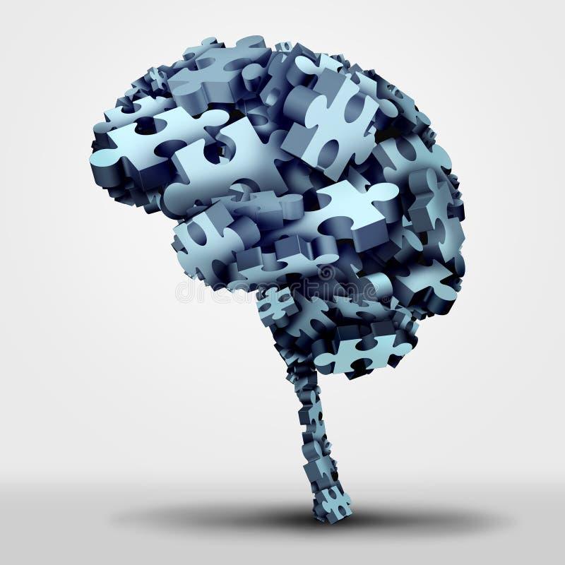Головоломка мозга иллюстрация вектора
