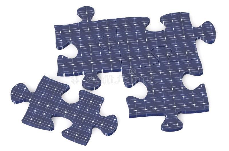 Головоломка от солнечной батареи иллюстрация вектора