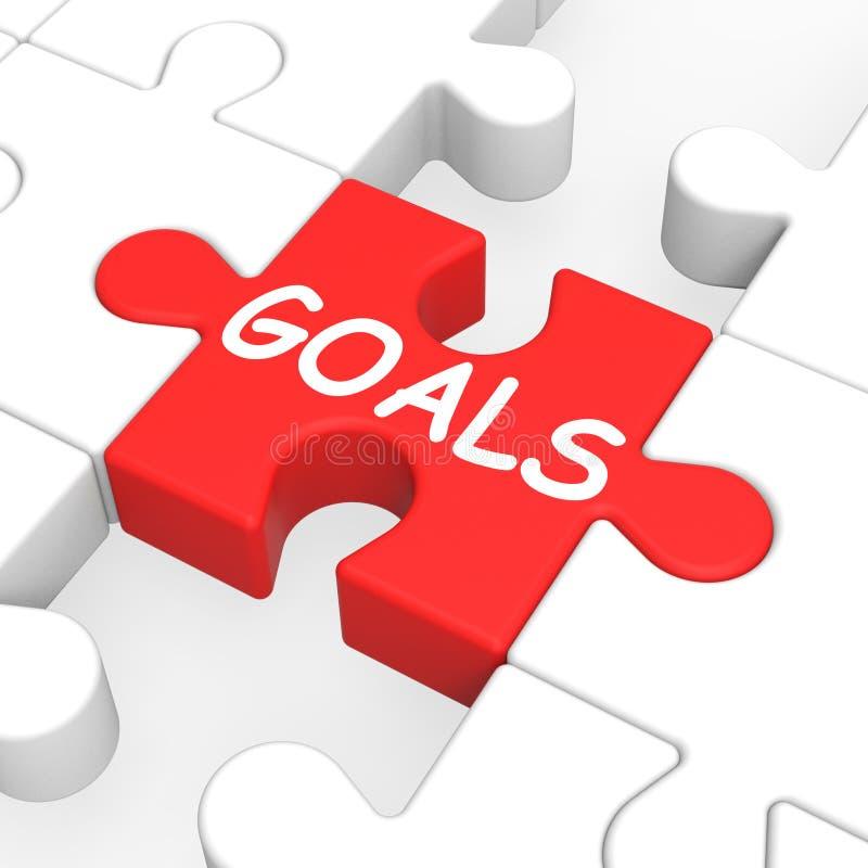Головоломка целей показывая цели устремленности бесплатная иллюстрация