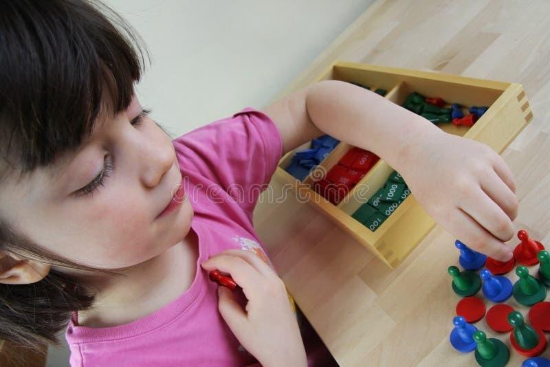 Головоломка Montessori. Preschool. стоковая фотография rf
