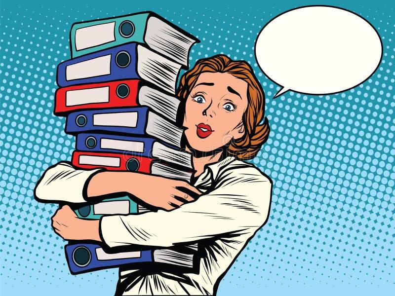 Годовые отчеты бухгалтера девушки бесплатная иллюстрация