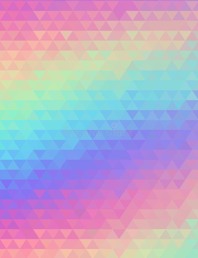 Голографическая геометрическая предпосылка вектора дизайн моды 80s и 90s Стиль Hologram живой, плакат искусства тенденции иллюстрация штока