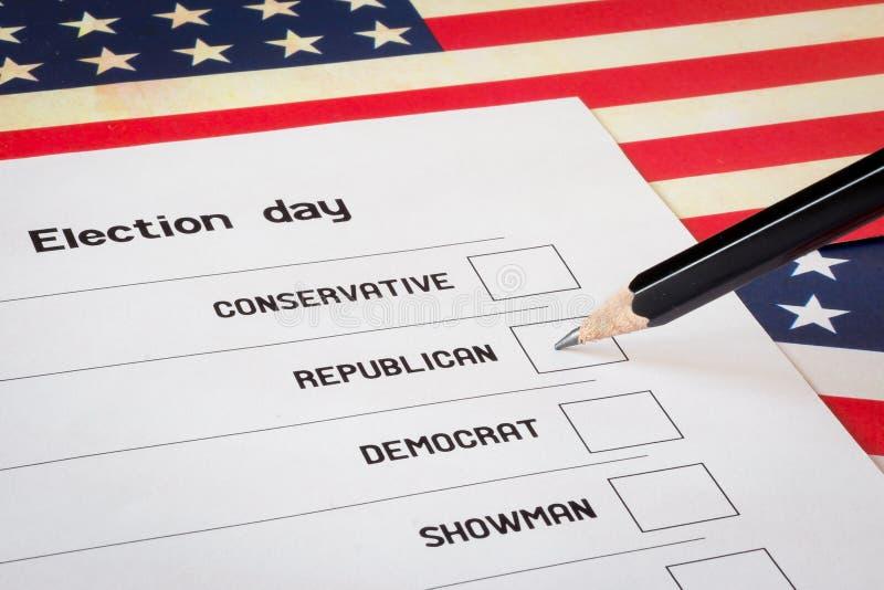 Голосование избраний стоковая фотография rf
