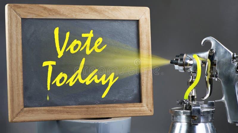 Голосование сегодня стоковая фотография