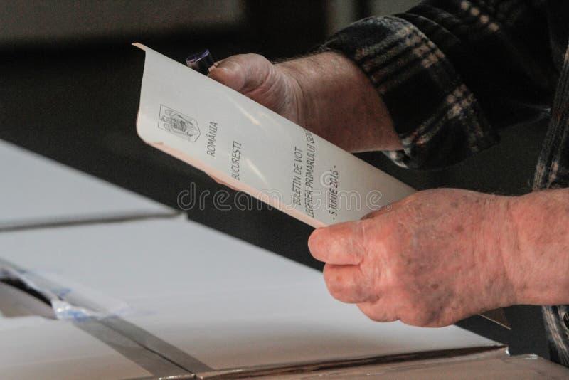 Голосовать-бумага стоковое изображение rf