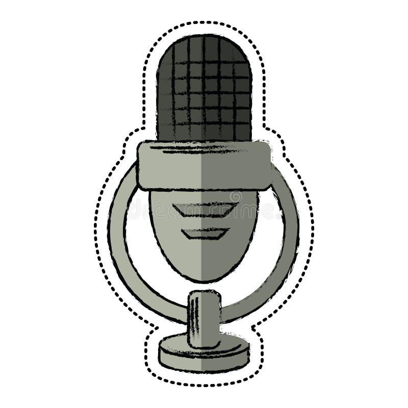 Голос микрофона шаржа ретро бесплатная иллюстрация