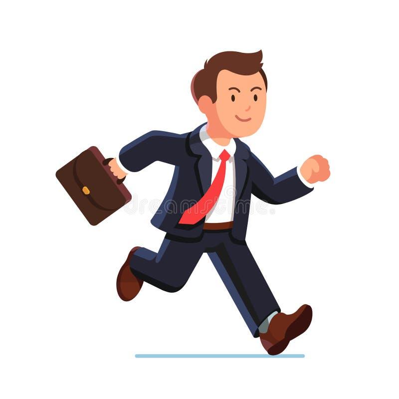 Голодает бег бизнесмена в костюме иллюстрация штока