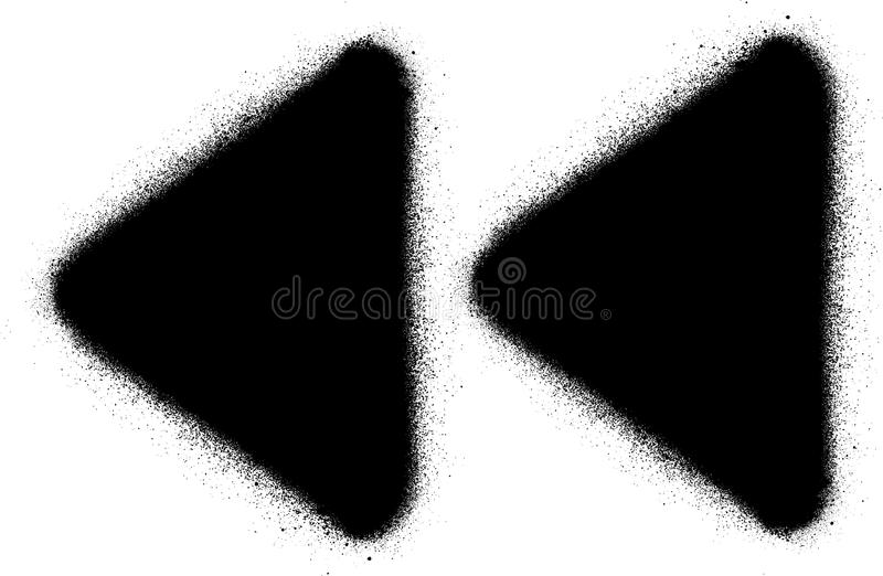 Голодает отсталый значок брызга граффити средств массовой информации в черноте над белизной бесплатная иллюстрация