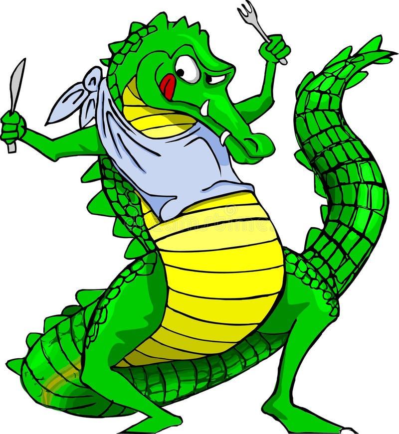 Голодный крокодил иллюстрация вектора
