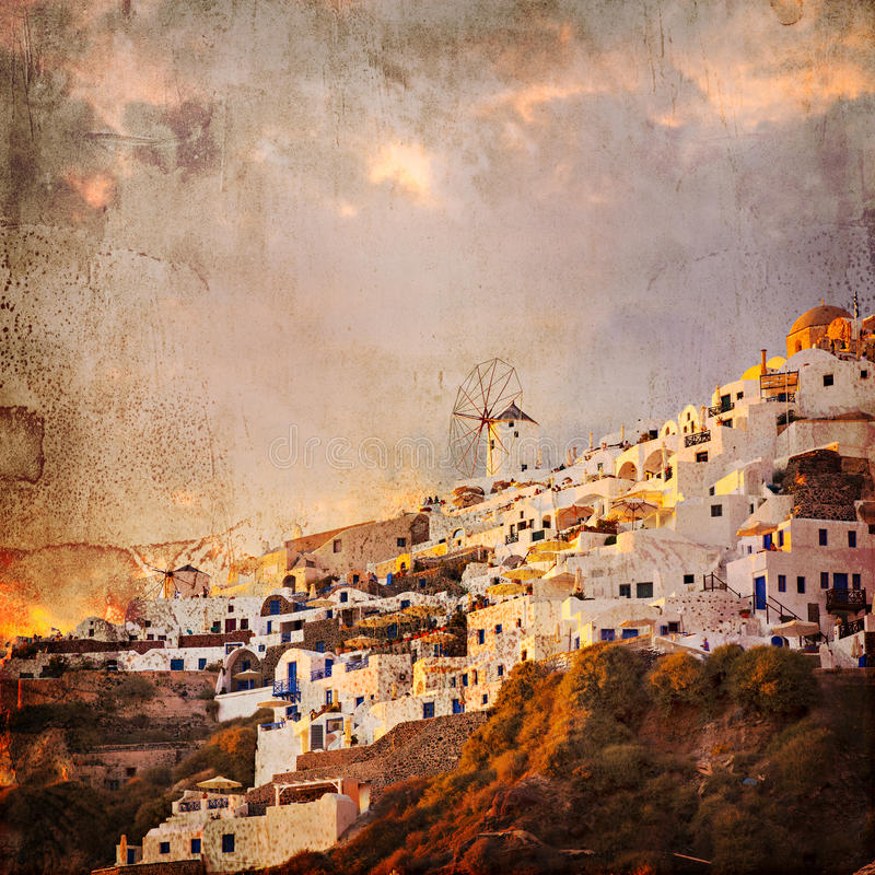 Год сбора винограда ввел Santorini в моду стоковая фотография rf