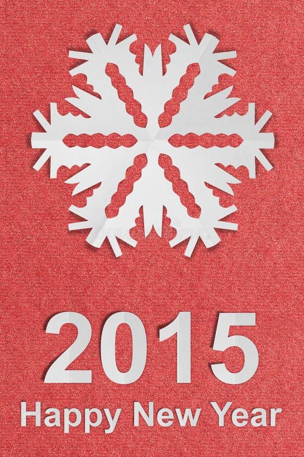 Год сбора винограда Нового Года текстурировал бумажную открытку с истинной бумагой стоковое фото rf