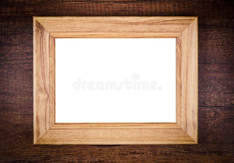 Год сбора винограда пустой деревянной рамки фото стоковое фото
