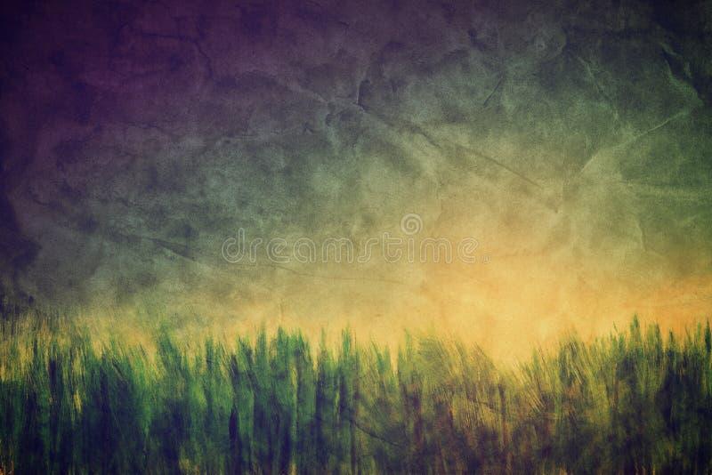 Год сбора винограда, ретро изображение ландшафта природы. стоковые изображения rf