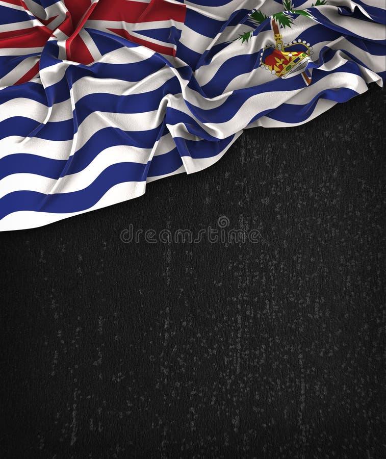 Год сбора винограда флага Британской территории в Индкйском океане на черноте Ch Grunge бесплатная иллюстрация
