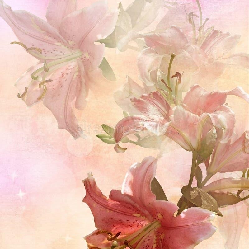 Год сбора винограда флористического дизайна иллюстрация штока