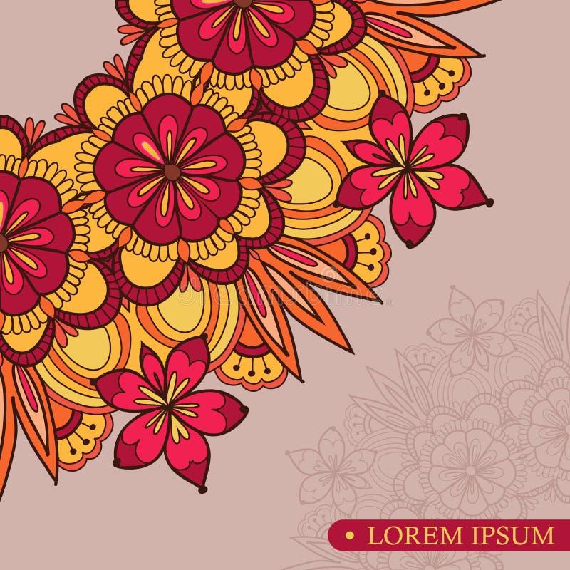 Год сбора винограда шаблона приглашения цветет орнамент шнурка бесплатная иллюстрация