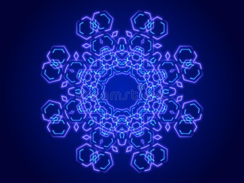 Голубая абстрактная предпосылка, калейдоскоп иллюстрация вектора