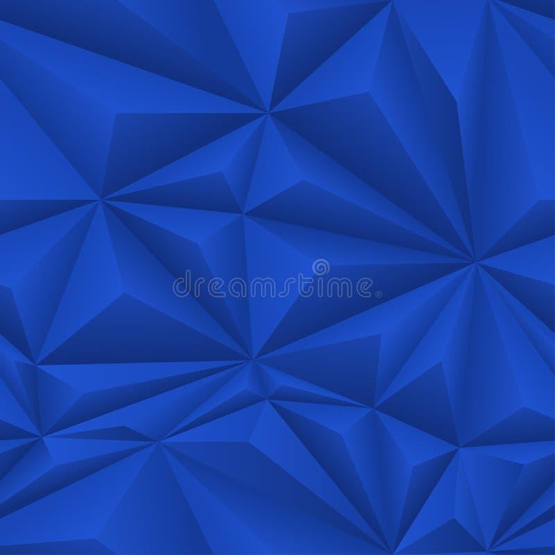 Голубая абстрактная плитка предпосылки полигона иллюстрация вектора