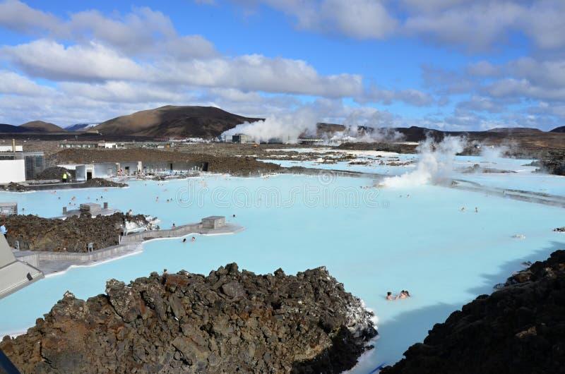 Голубая лагуна на Исландии стоковое фото rf