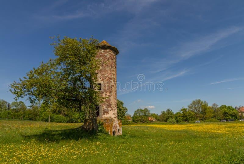 Голубая башня стоковые изображения rf