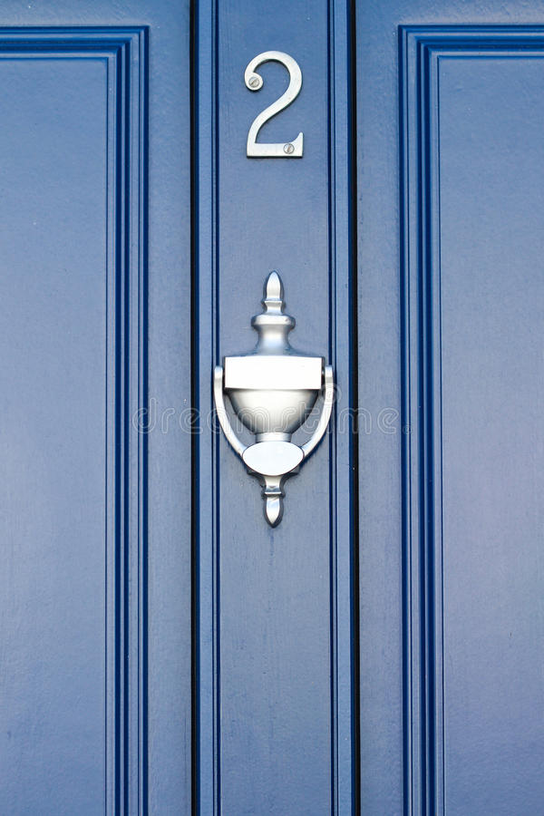 Голубая дверь - 2 стоковые фотографии rf