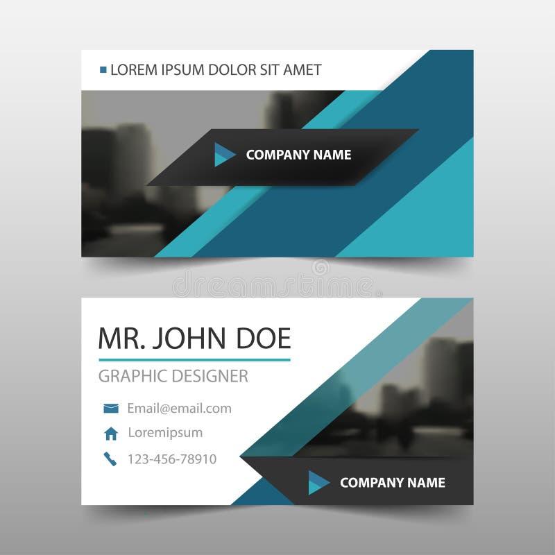 Голубая визитная карточка корпоративного бизнеса треугольника, шаблон карточки имени, горизонтальный простой чистый шаблон дизайн бесплатная иллюстрация